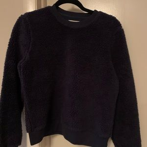 Tory Burch xs Sherpa navy pullover